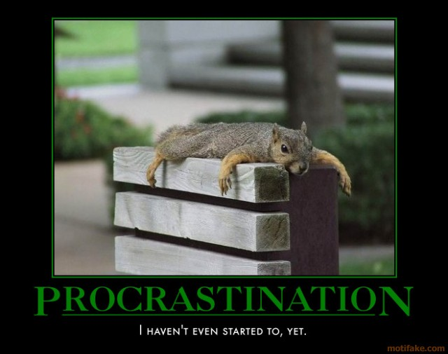 Procrastination Squirrel