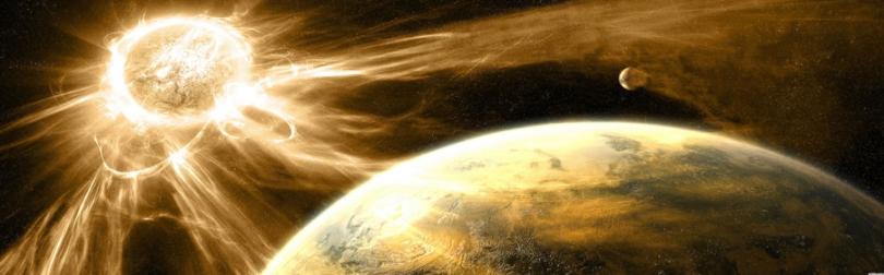 Solar bathes the Earth