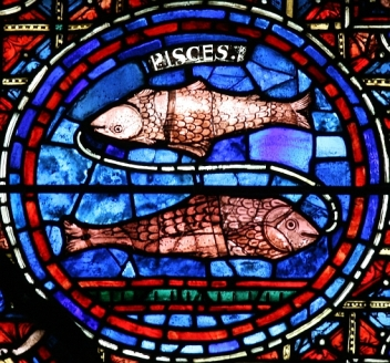 Pisces Stained Glass from Chartres Cathedral
